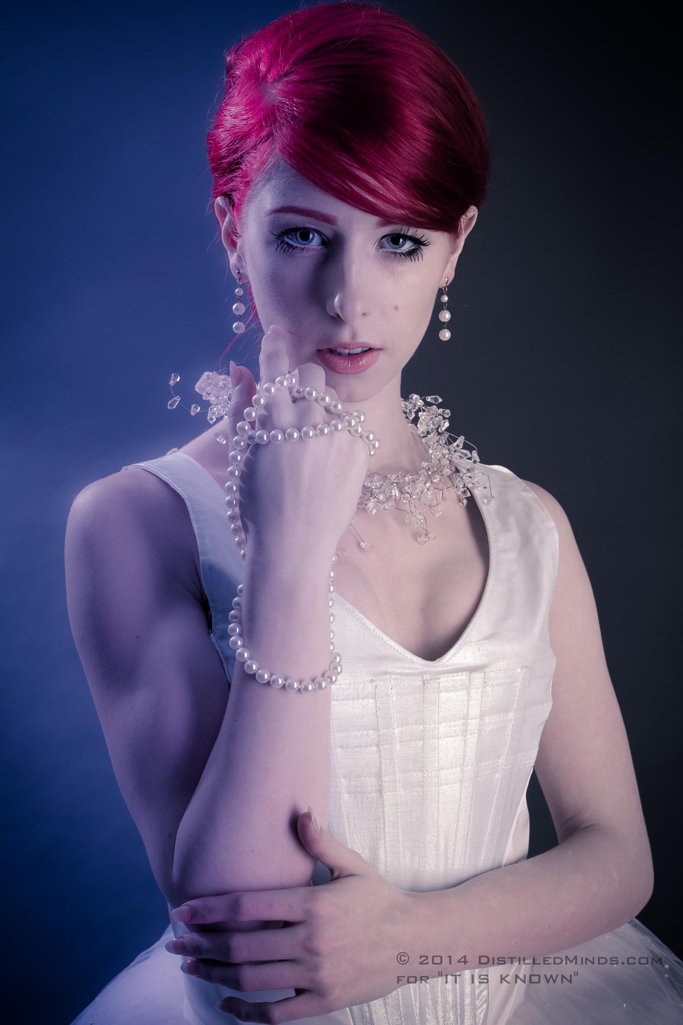 Erica Glows Blue